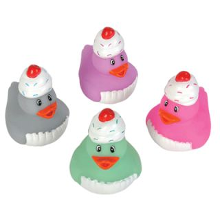12 Sweet Treat Cupcake Rubber Duck Ducky Duckies Birthday Party Favors