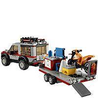 Lego City 4433 Dirt Bike Transporter Set 2 Mini Figures 201 Pcs Age 5