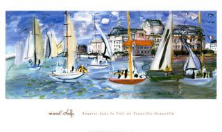 17x33 Print Regattas  by Raoul Dufy
