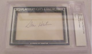 2012 Press Pass Platinum Cuts Don Hutson Auto 1 1 Green Bay Packers