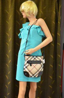 Burberry Dryden Nova Check Coated Canvas Crossbody Bag $495