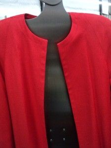 Womens Doncaster Coral Red Tunic Style Long Jacket Size 6 New Sample
