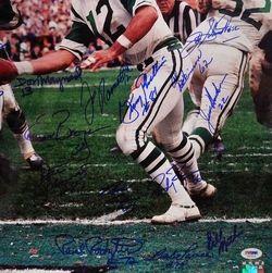 1968 New York Jets Team Signed 16x20 PSA DNA LOA Joe Namath 25 Autos