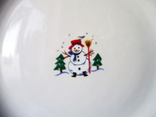 pfaltzgraff snow village christmas dinner plates