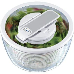Zyliss Smart Touch Salad Spinner White New