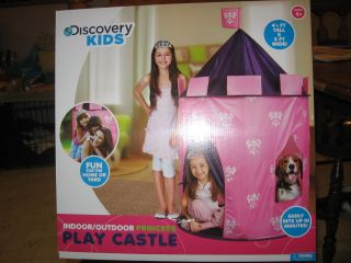 new in box discovery kids indoor outdoor princess play castle