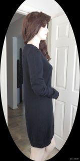 Donna Karan New York Black Label Melange Body Jersey Sweater Dress M