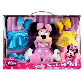 Disney Dress Up 14 inch Minnie Mouse Plush Doll with 3 Outfits Set