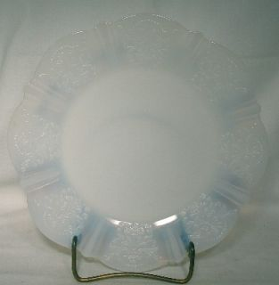 Macbeth Evans Glass American Sweetheart Monax White Sandwich Plate 10
