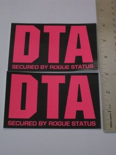 DTA Rogue Status Sticker Decal Logo Window Vinyl Car Wall Laptop Skate