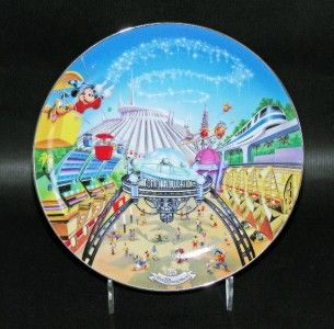 Disney World 25th Anniversary Tomorrowland Collector Plate