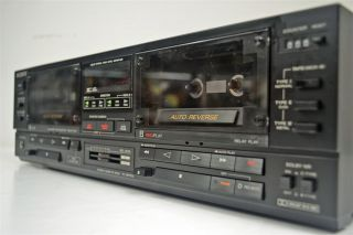 Sony Stereo Dual Cassette Deck Tape Player Recorder TC WR750