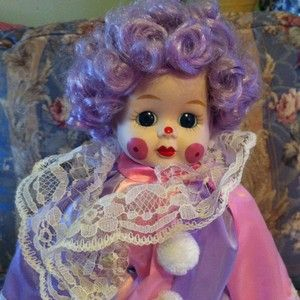 Authentic Porcelain Clown Doll