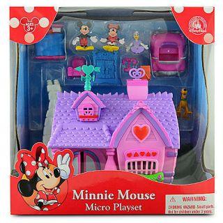 NIB Disney Mickeys Toontown Minnie Mouse House Micro Play Set