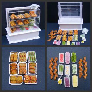 12 Scale Sandwich Roll Bar Display Dolls House Miniature Food