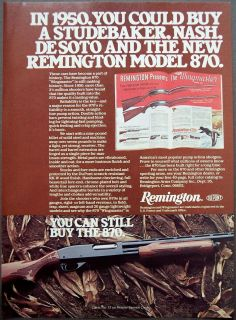 1978 Remington Model 870 Wingmaster Rifle Vintage Firearm Ad