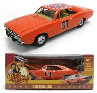 The Dukes of Hazzard 01 General Lee Diecast Metal Toy Car 8 inches