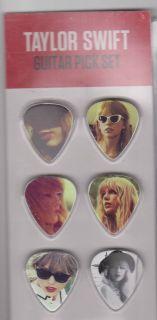 Taylor Swift 6 Guitar Picks Pick Plectrums