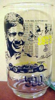 1973 Mark Donohue Indianapolis 500 Race Winners Collectors Glass