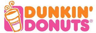 Dunkin Donuts Ceramic Mini Xmas Ornament Pink Donut w Sprinkles 2