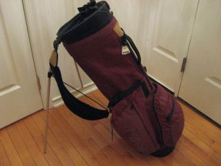 Ping Hoofer Stand Bag Double Strap Burgandy Nice Bag