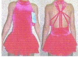 New Hot Pink Cool Back Ice Skating Dress CH 12