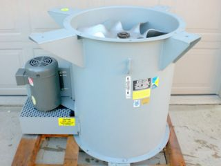 Tubeaxial Blower Exhaust Fan 25 Dia Paint Booth 5 HP