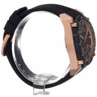 98B152 Mens Precisionist Champlain Black Rose Gold Plated Watch