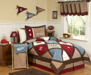 All Star Sports Kids Full Queen Size Bed Bedding Comforter Set for Boy