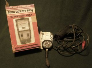 Vintage Tach and Dwell Meter Rac Compression Tester Dixco Timing Light