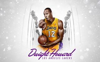 DWIGHT HOWARD LOS ANGELES LAKERS NBA L.A. LAKERS SUPERMAN T SHIRT Tee