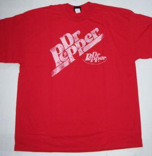 Dr Pepper Soda Logo Retro Hybrid Tee Shirt T Shirt XL