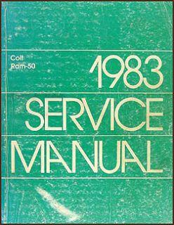 1983 Dodge RAM 50 Pickup Truck Repair Shop Manual Gas Diesel Original