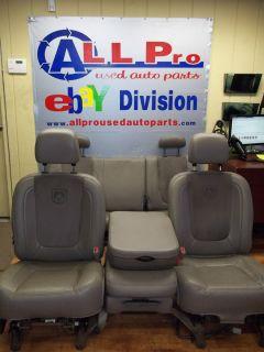 2002 2008 DODGE RAM 1500 LEATHER FRONT BENCH SEAT SEATS SET HEMI W