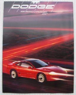 Dealer Brochure 1991 Dodge Stratus Spirit R T Daytona