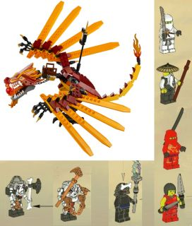 New SEALED Fire Dragon All 7 Minifigures Only Lego Ninjago Fire Temple