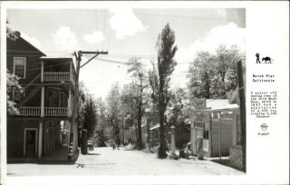 Dutch Flat CA Old Mining Town Shell Gas Pumps Old Real Photo Postcard