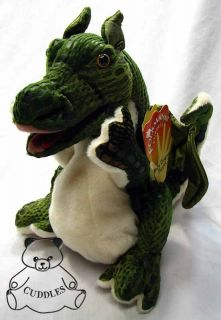 Baby Dragon Hand Puppet Folkmanis Plush Toy Stuffed Animal Green