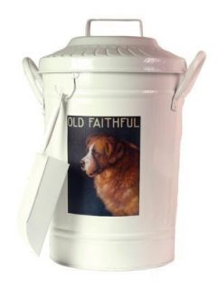 Vintage Dog Food Container Can Scoop Bucket St Bernard
