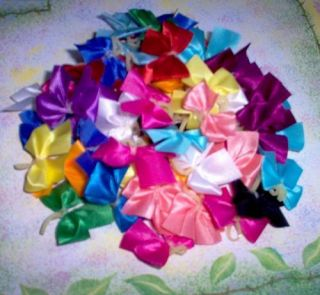 Dog Grooming Bows 50 small solid Dog Bows Yorkie Poodle Shih tzu