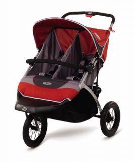 instep suburban safari double baby jogging stroller new authorized