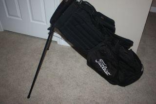 Titleist Black Golf Stand Bag w Double Shoulder Straps