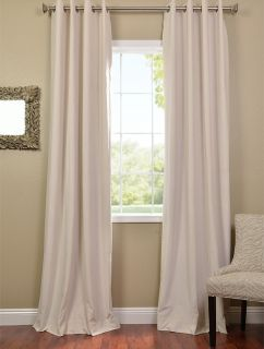 Ivory Grommet Velvet Blackout Curtains Drapes