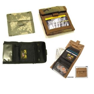 Spec Ops T H E Wallet J R Jr Tri Fold ACU Black Multicam Coyote Brown