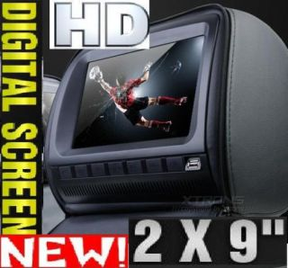2X 9 Car Headrest Sony DVD Player HD Game USB GPS SD