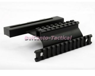 Tactical AK Saiga Adjustable Side Mount with Dual Weaver Picatinny