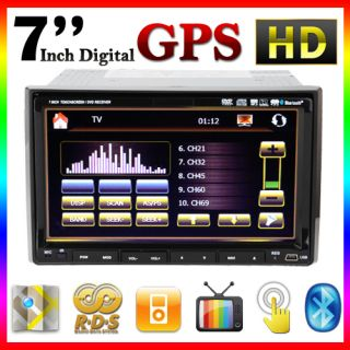 Navigation with Map iPod Bluetooth Radio Double DIN 7 Car Stereo DVD
