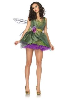 Sexy Woodland Green Fairy Tinkerbell Dress Outfit Adult Halloween