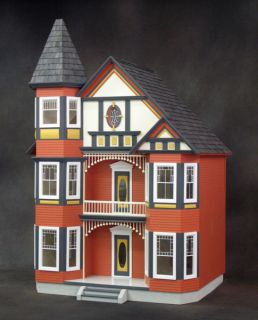 Huge Victorian Painted Lady Dollhouse Kit