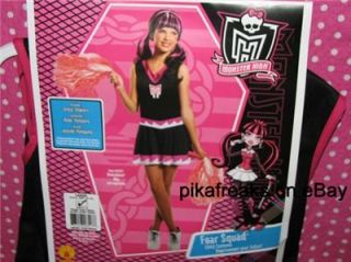 New Monster High Fear Squad Cheer Halloween Costume Child Size Large